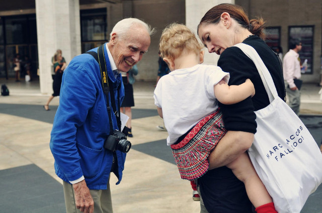 Walking with Cake: Bill_Cunningham_at_Fashion_Week_photographed_by_Jiyang_Chen, via Wikipedia