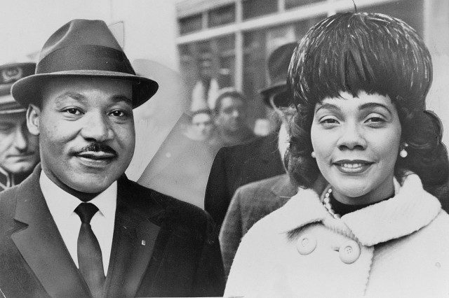 Walking with Cake: Martin Luther King, Jr. and Coretta Scott King, photo by Herman HIller