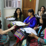 (Students in an English as Second Language class in the Pathways for Promise program at the Asian University for Women in Chittagong, Bangladesh.)