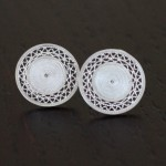 Walking with Cake: Magangue earrings by Olmox Fine Filigree Jewelry