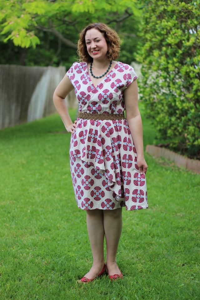 Walking with Cake: Jin Ju Red Ruffle Dress by Mata Traders