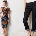 (Left: The Willa Petite Pencil Skirt by Eva Franco.  Right:  J. Brand Aiden Slouchy Boy Jeans.)
