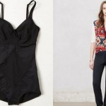 (Left: Resultwear by DMondaine's Solid Shapewear One-Piece.  Right: Sundry Romi Loungers.)