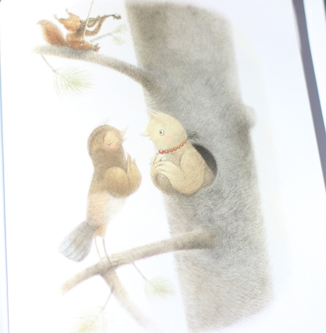 Walking with Cake: Page from Once Upon a Memory by Nina Laden