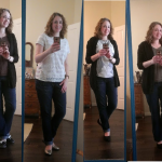 (Casual daily outfits for early spring.)