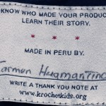 Walking with Cake: Maker Tag Krochet Kids