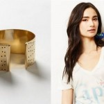 (The Sahara Cuff by Winifred Grace and The Visit Capri Tee by Sol Angeles, via Anthropologie.)