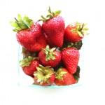(Local strawberries.)