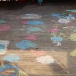 (The boys' chalk drawings.)