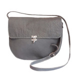 (Harriet Sanders' Grey Classic Handbag.)