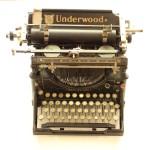 (My grandparents' old typewriter.)