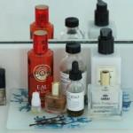 (A few bottles on my bathroom vanity.)