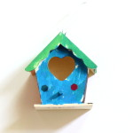 (James' birdhouse from his summer camp.)
