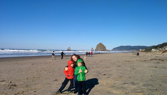 Walking with Cake: Haystack Rock, Cannon Beach, Oregon