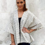 Walking with Cake: Passion Lilie Black Dash Poncho
