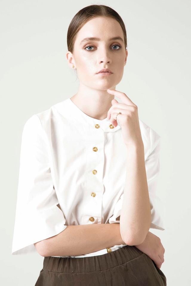 Walking with Cake: Rakha Holly White Shirt