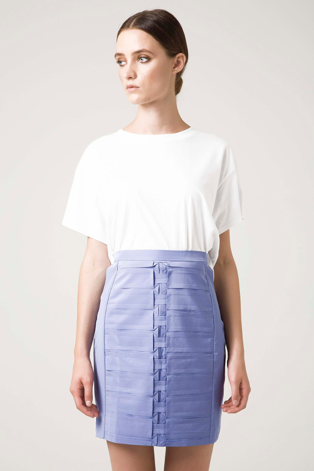 Walking with Cake: Rakha Lilac Pleated Skirt