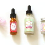 (Ruby Facial Oil, Carrot-a-Day Face and Eye Serum, and Farizad's Veil from Earthwise Beauty.)